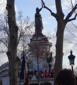 Place de la Republique flags