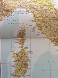 Corsica - map