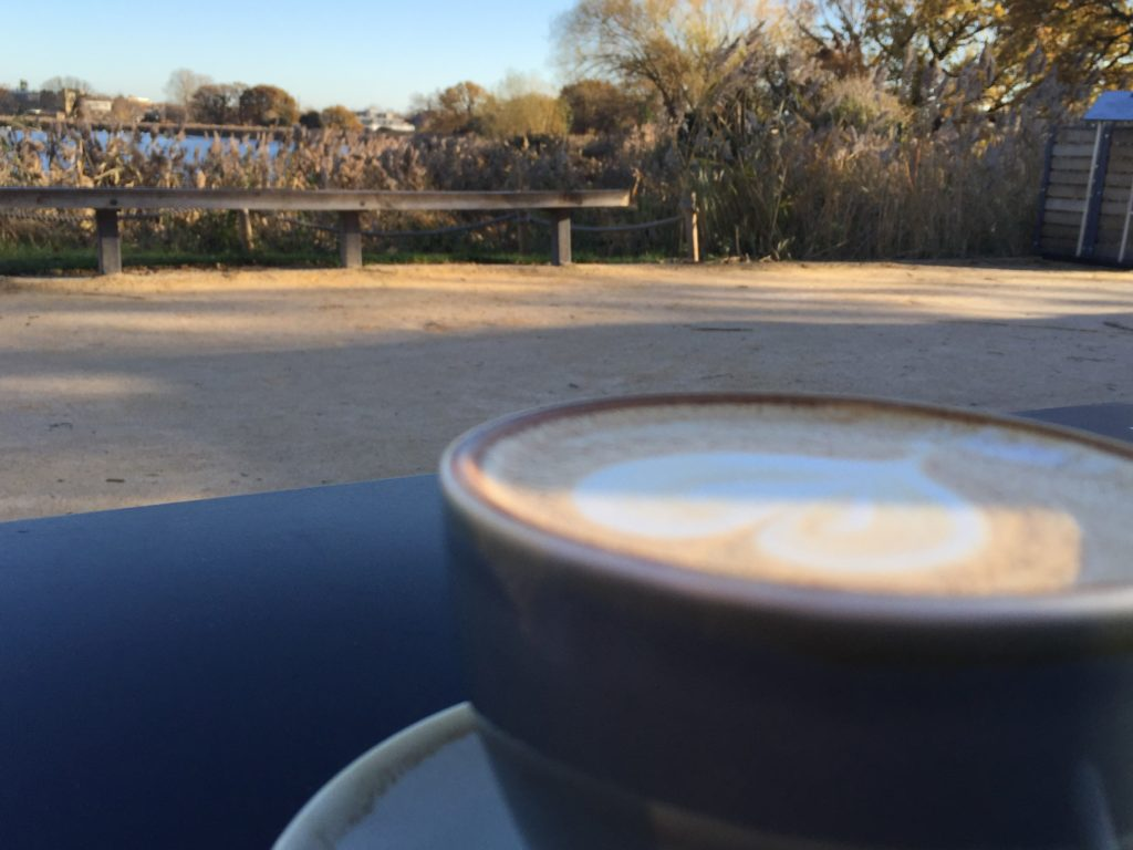 coffee at Woodberry Wetlands