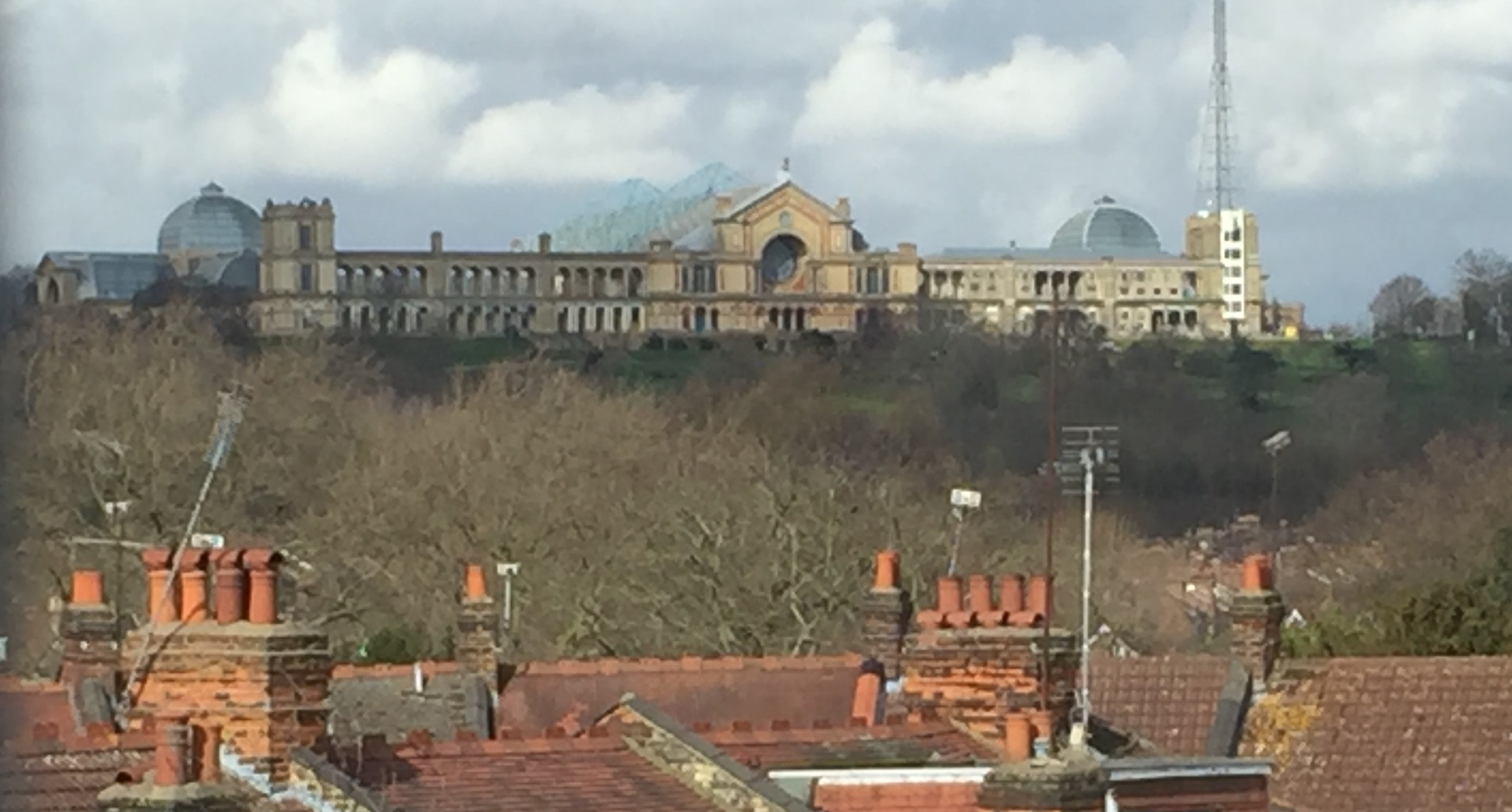 Maureen's view of Ally Pally